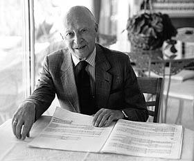 Witold Lutosławski in 1993.