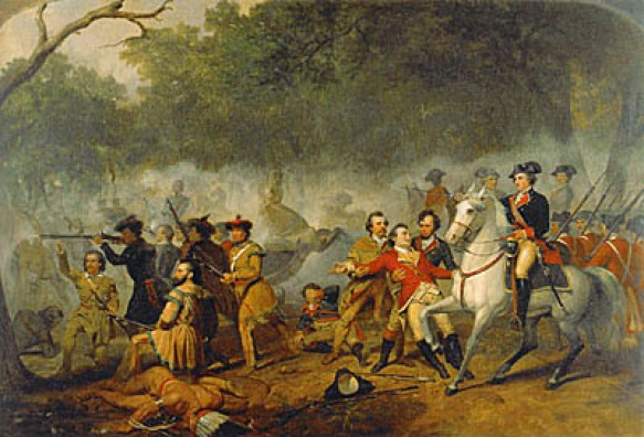 """Washington as Captain in the French and Indian War"" by Junius Brutus Stearns"