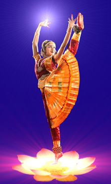 This Bharata Natyam dancer's right hand is in ...