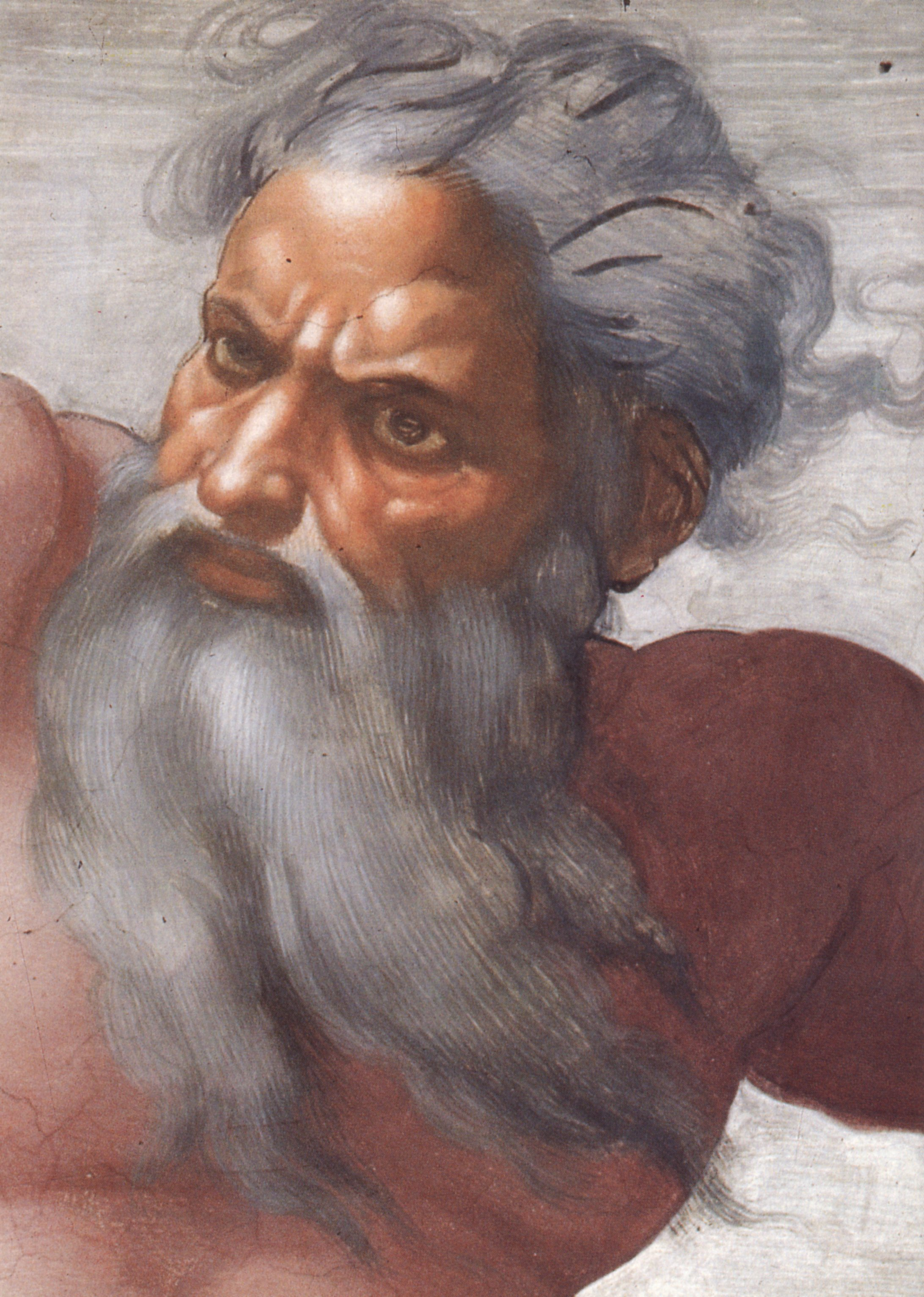 The Face of God by Michelangelo