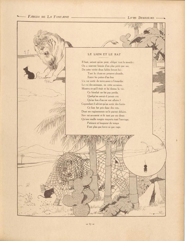 Fable De La Fontaine Le Lion Et Le Rat : fable, fontaine, File:Fables-18-lion&rat.jpg, Wikimedia, Commons