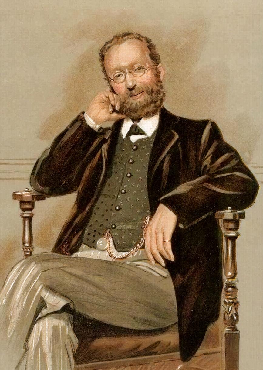 Caricature of Thomas Allinson. Caption read &q...