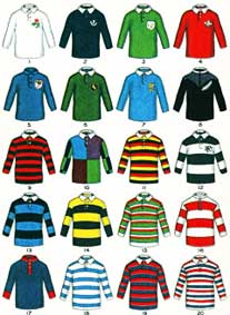 Famous Rugby Jerseys, early 1920s boys magazin...