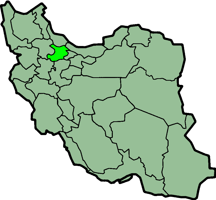 A map of present-day Iran showing the location...