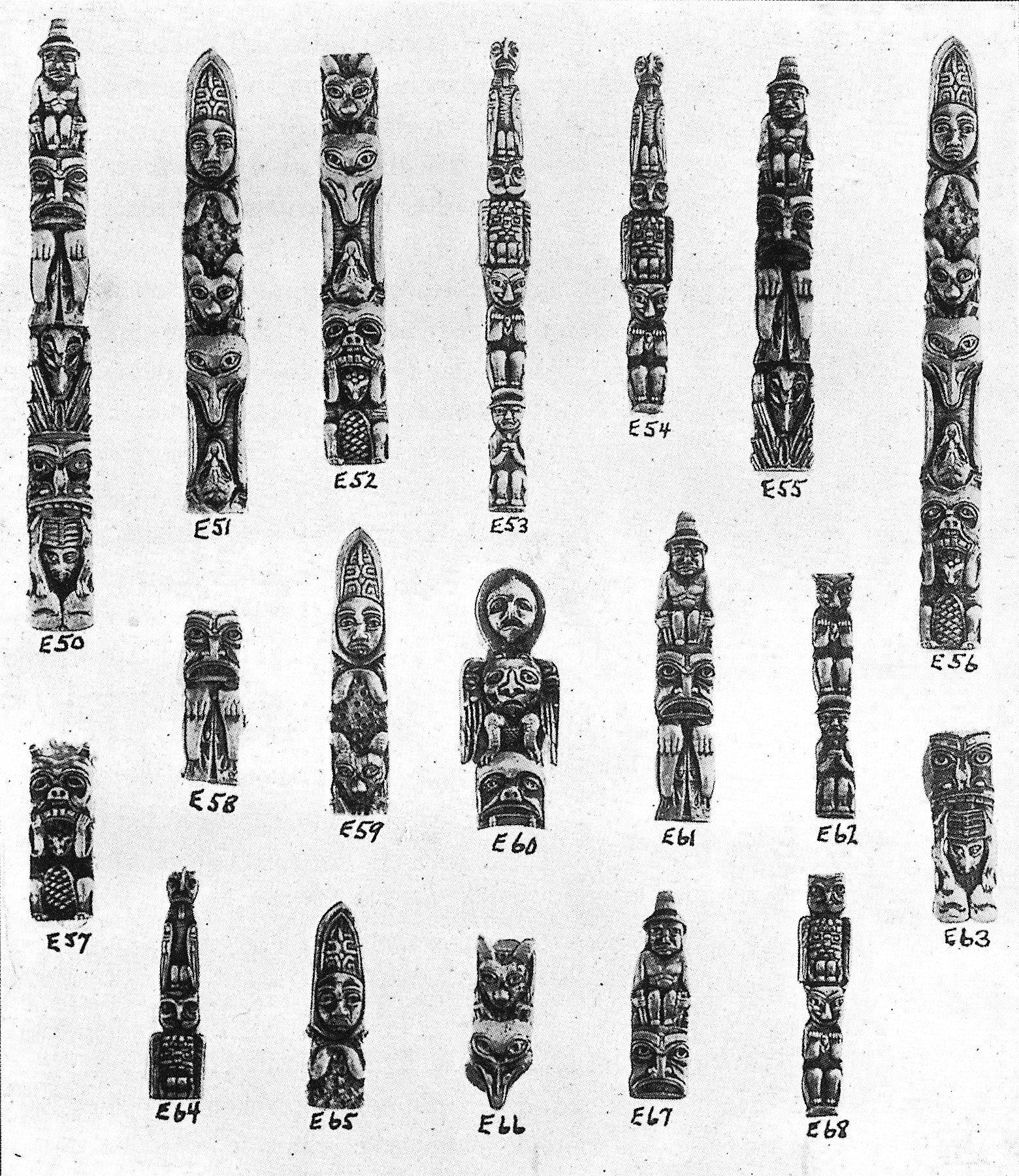 Totem Pole Illustration