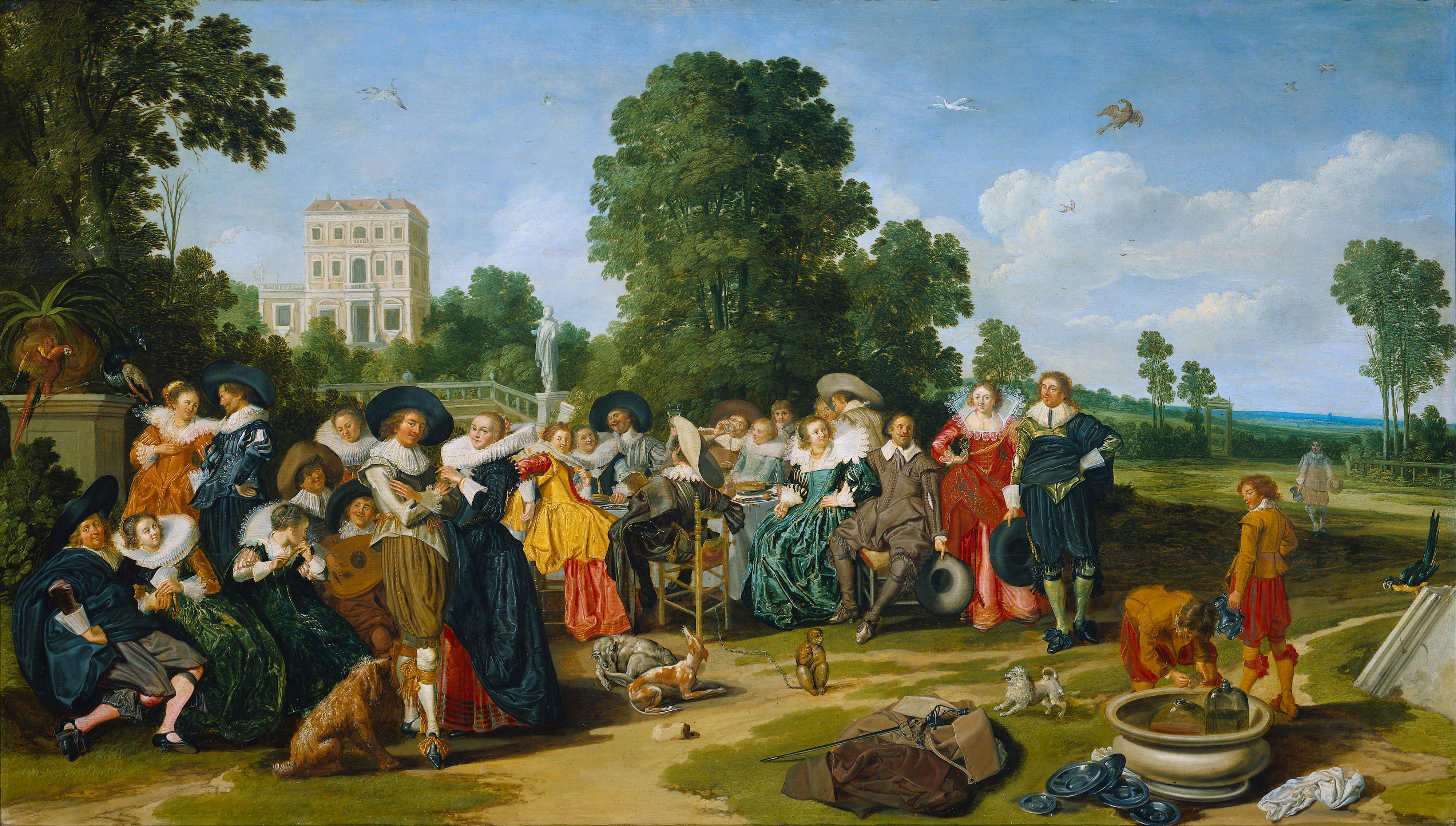 Filefete Champetre (1627) Dirck Halsjpg  Wikimedia Commons