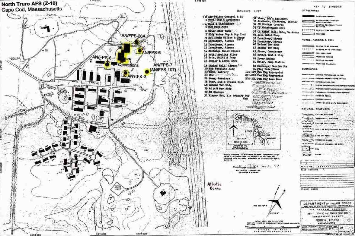 File North Truro Air Force Station Site Map