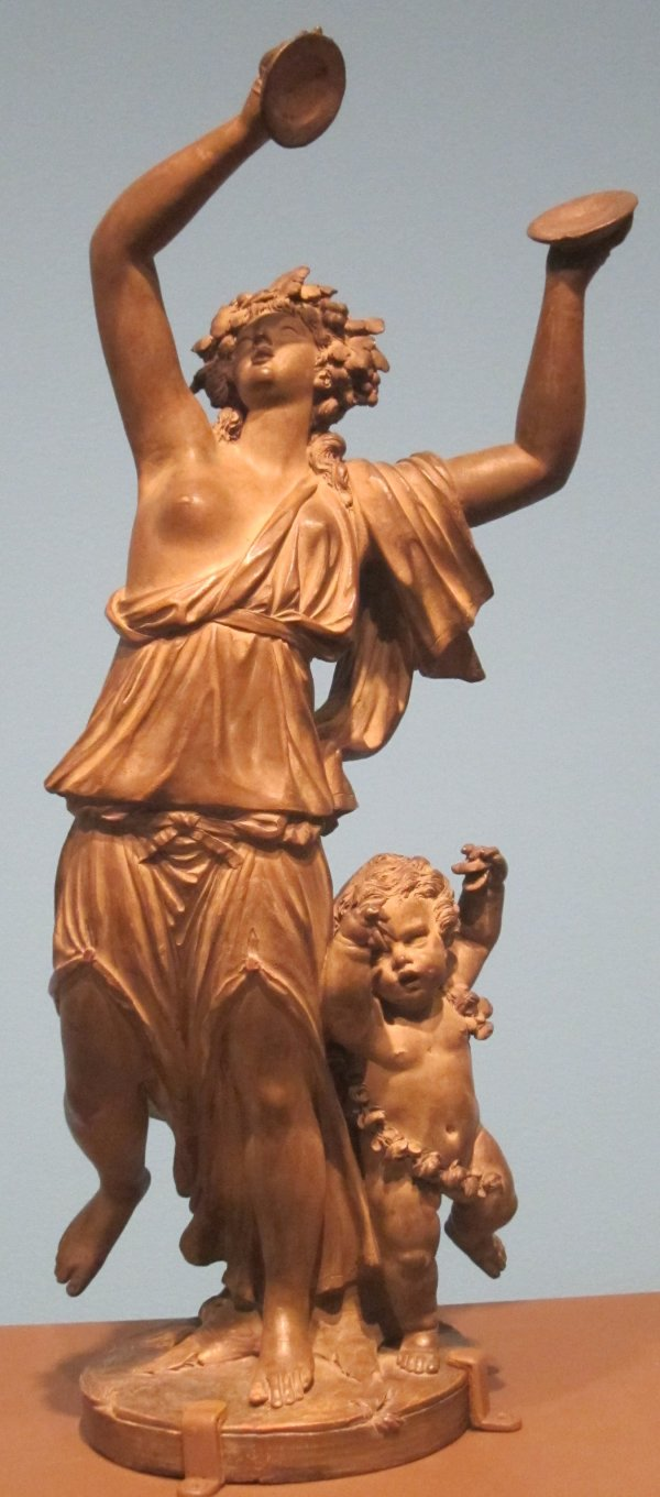 File Dancing Bacchante With Amour Terracotta Sculpture