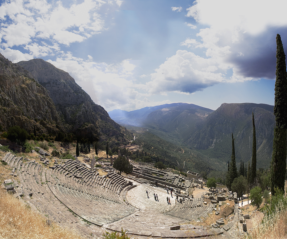 The Ancient Theatre of Delphi.
