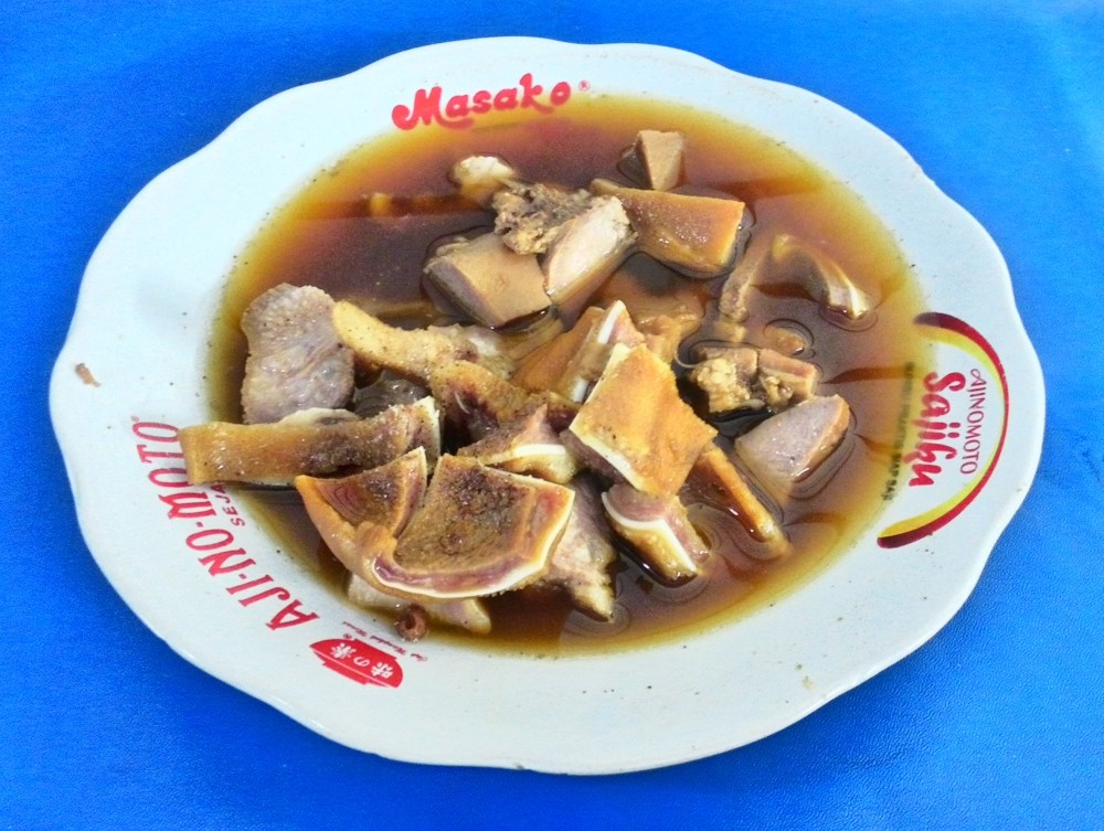medium resolution of sekba pig offal in soy sauce stew
