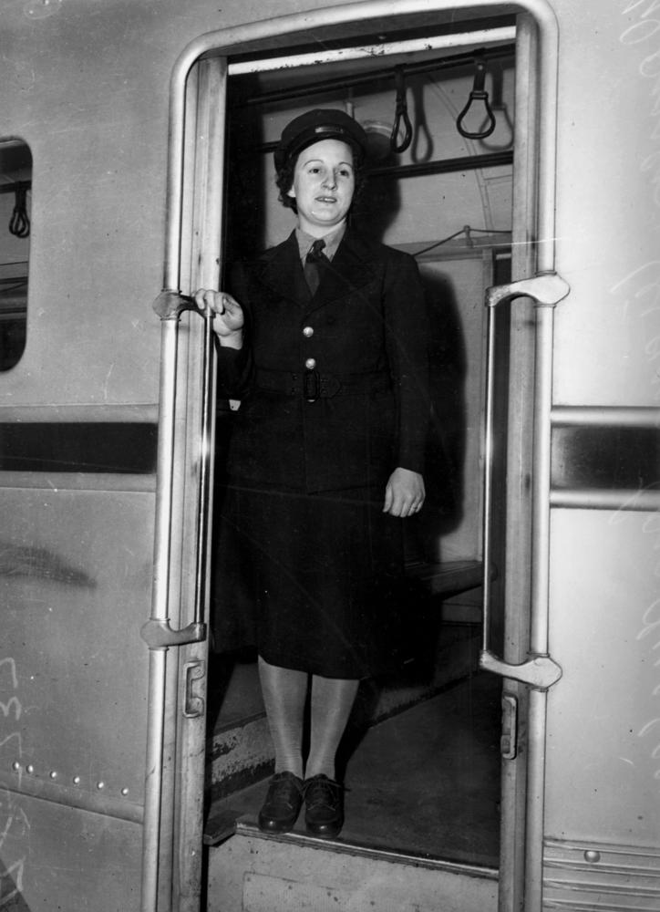 FileStateLibQld 2 212816 Tram Conductress in her new