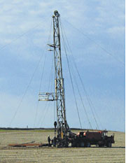 A workover rig.
