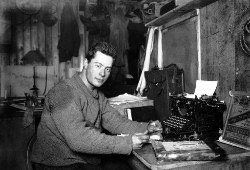 Apsley Cherry-Garrard & typewriter