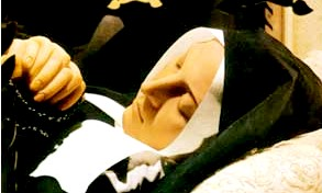 a picture of saint Bernadette's face
