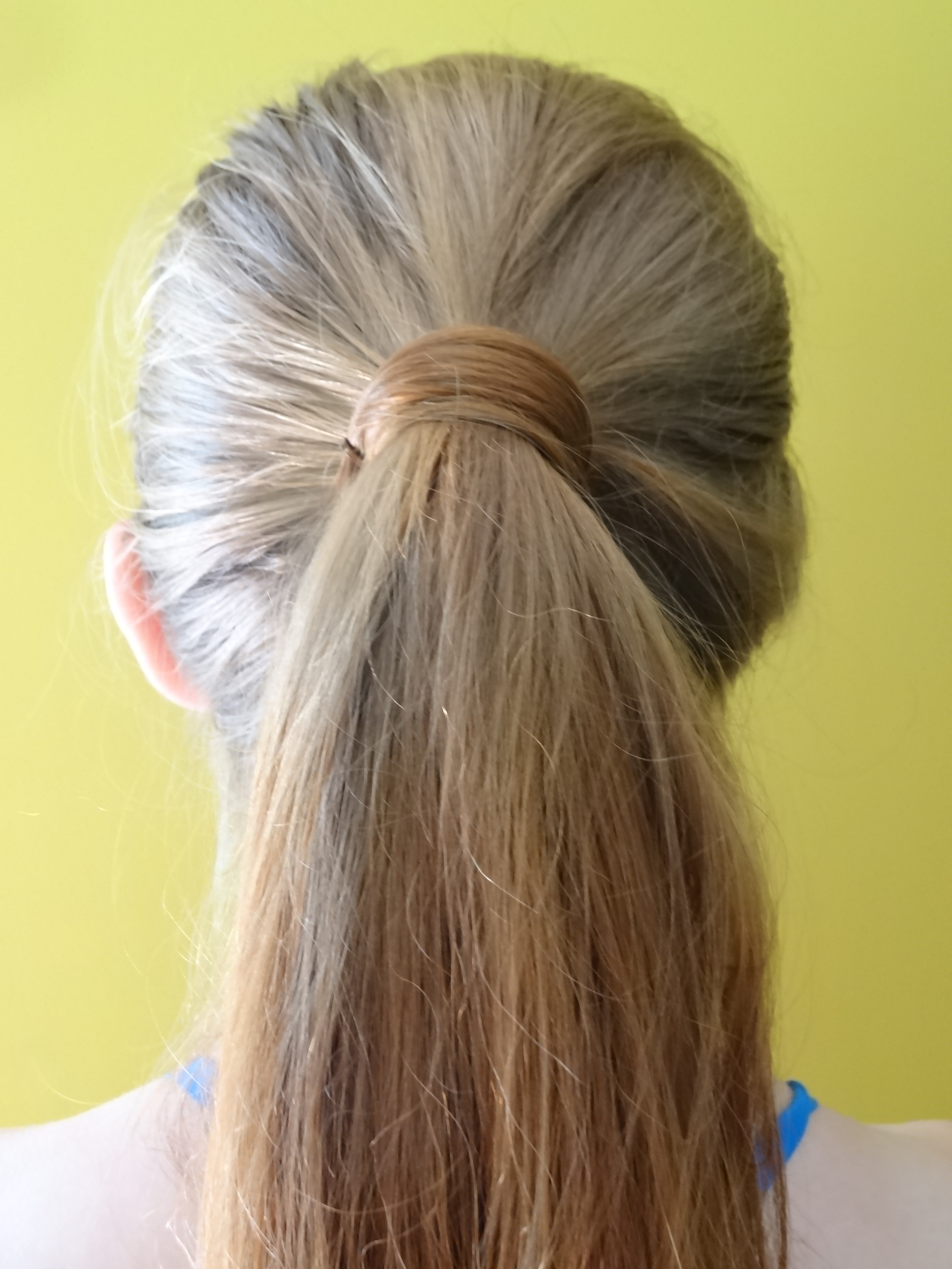 Ponytail With Hair Wrapped Around : ponytail, wrapped, around, File:Hair, Wrapped, Ponytail.JPG, Wikimedia, Commons