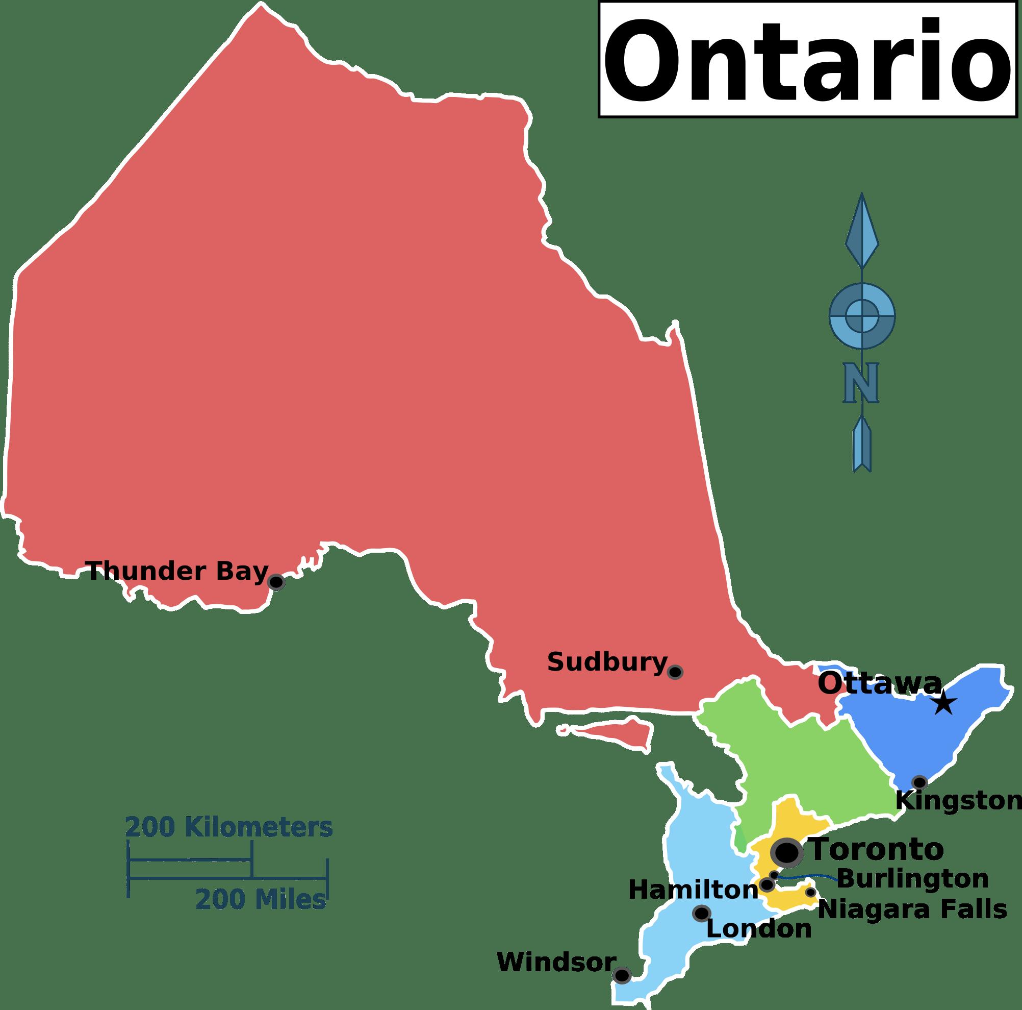 File Ontario Regions Map