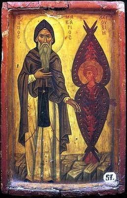 Saint Macarius of Egypt and the Cherub. Venera...