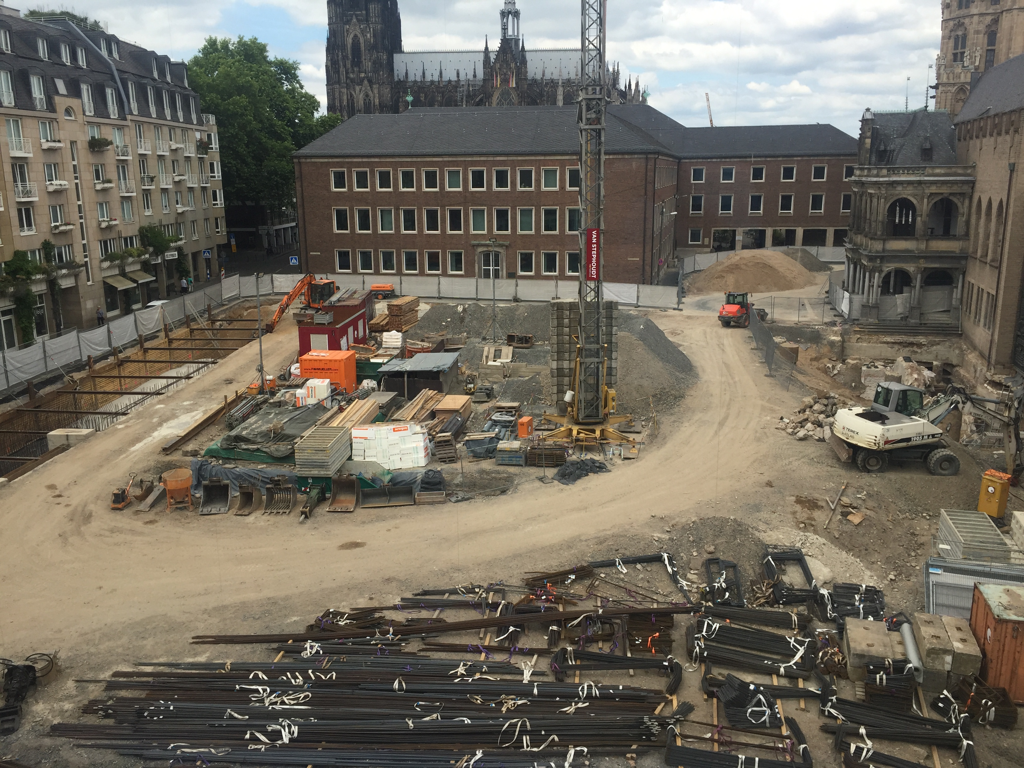 File Construction Site In Cologne Germany 2017
