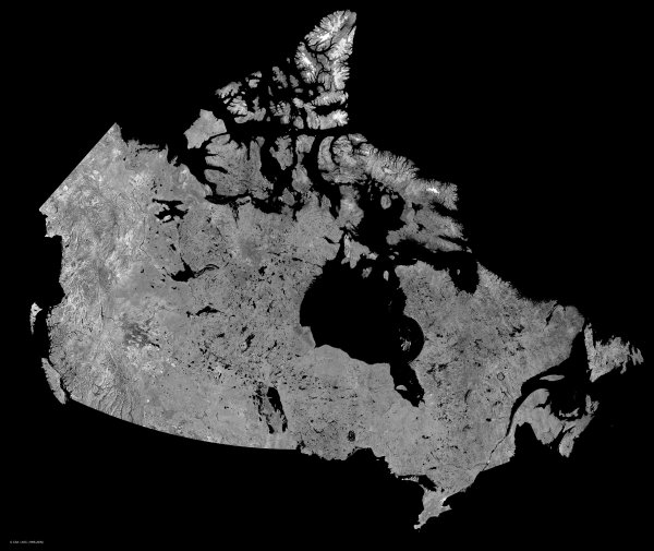 Canada Map Satellite