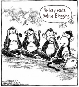 English: Monkeys Blogging Español: Simios blog...