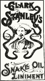 Snake Oil Liniment Advertisement on doctorfoodtruth