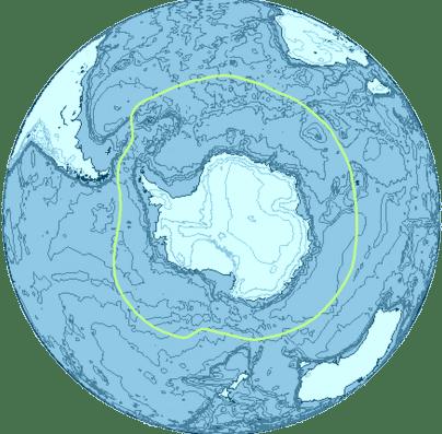Convergenza Antartica: le isole Shetland Meridionali giacciono a Sud di questa fascia