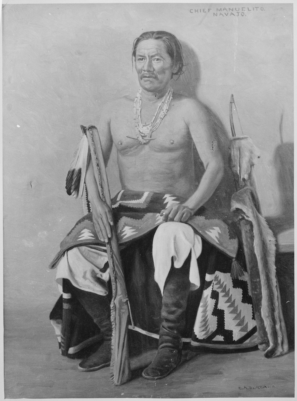 FileManuelito a Navajo chief fulllength seated  NARA