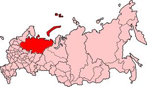 Северный край на карте