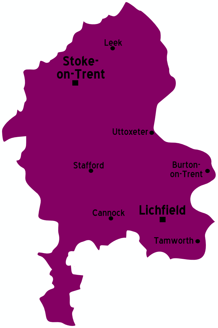 map of england cities and towns