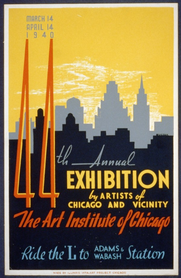 File 44th Annual Exhibition Artists Of Chicago And Vicinity- Art Institute