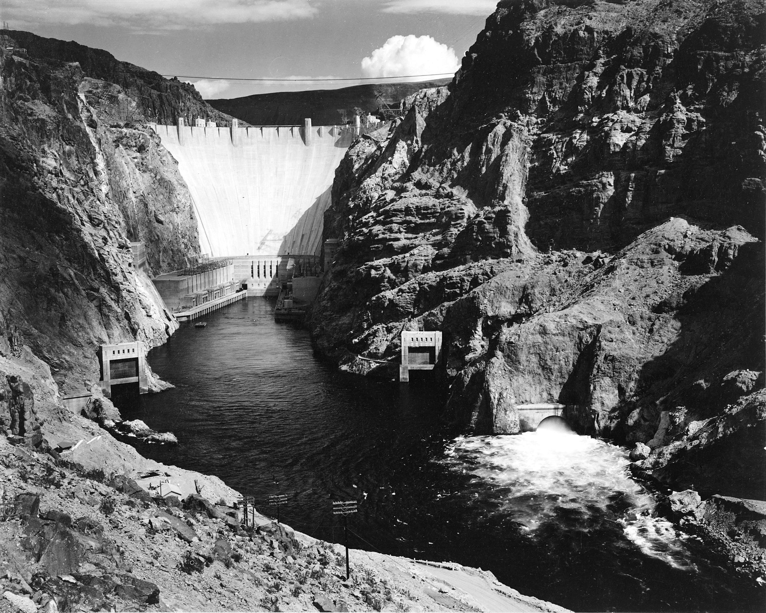 Hoover Dam by Ansel Adams (1942)