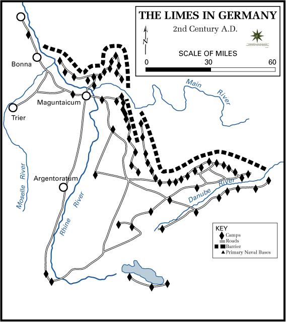 The area (Agri Decumates) between Main and Rhi...