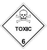 Placard for Toxic Substances
