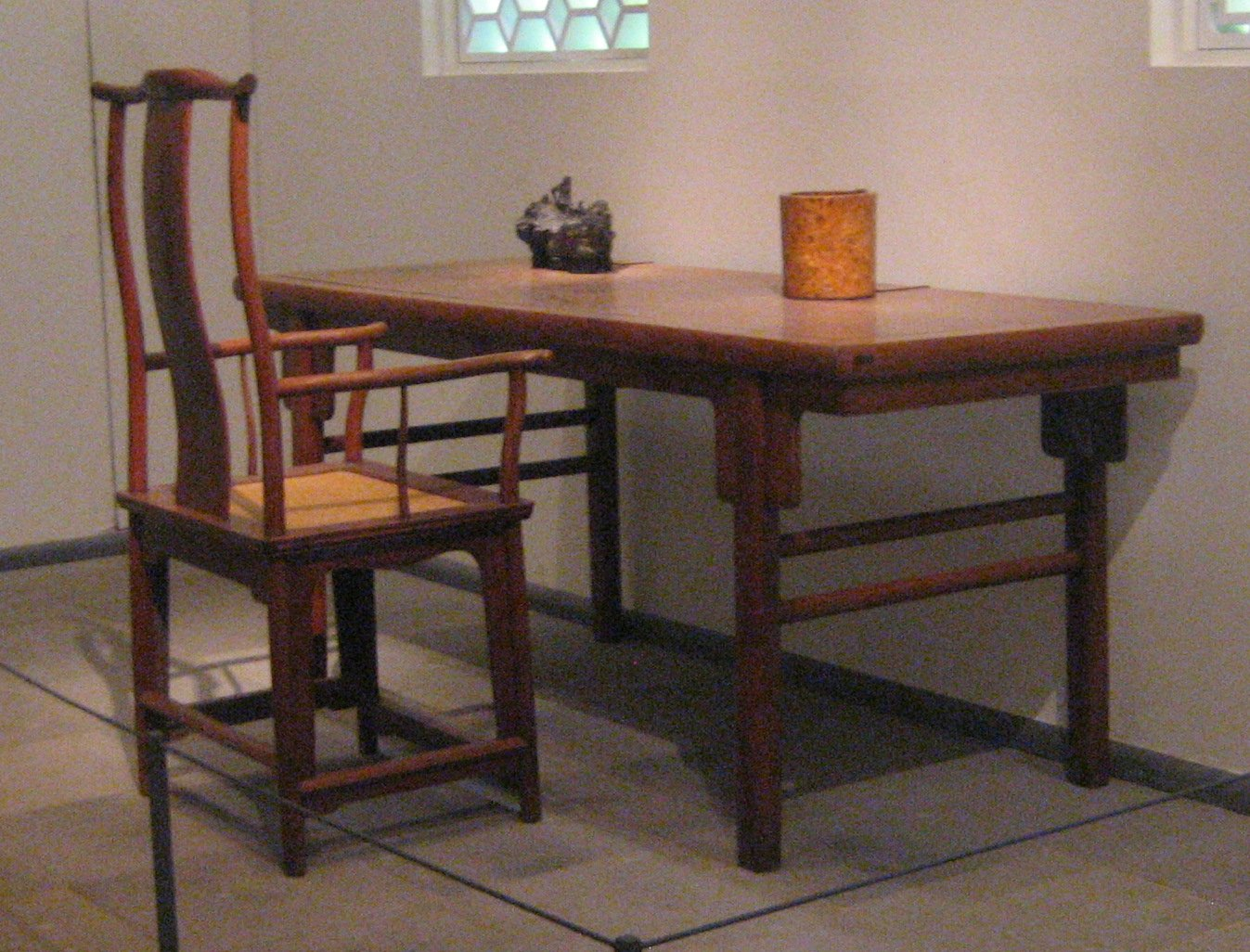old office chair and table adult gaming chairs file yokeback armchair painting ming dynasty
