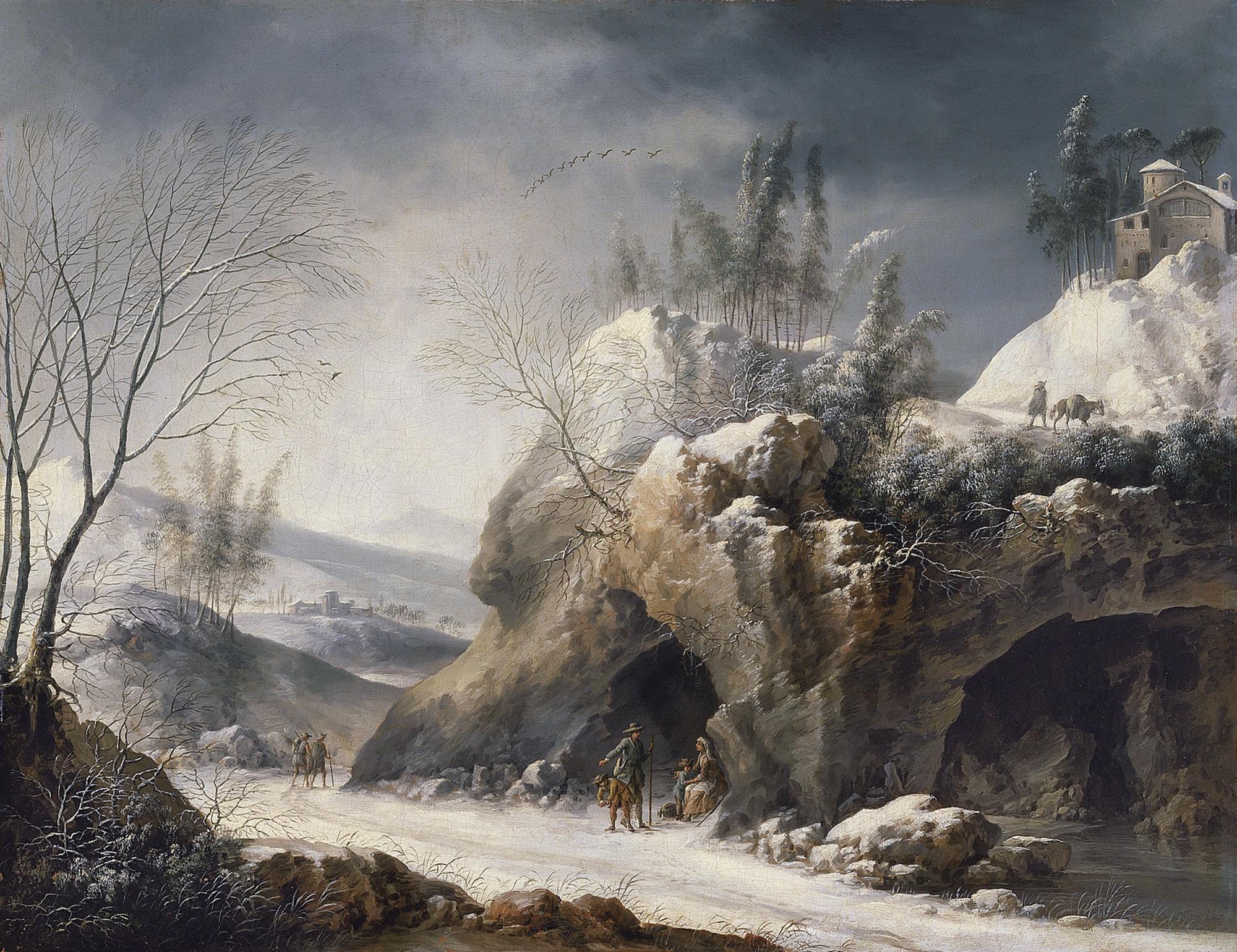FileFrancesco Foschi  Paesaggio invernale con una famiglia di contadinijpg  Wikimedia Commons