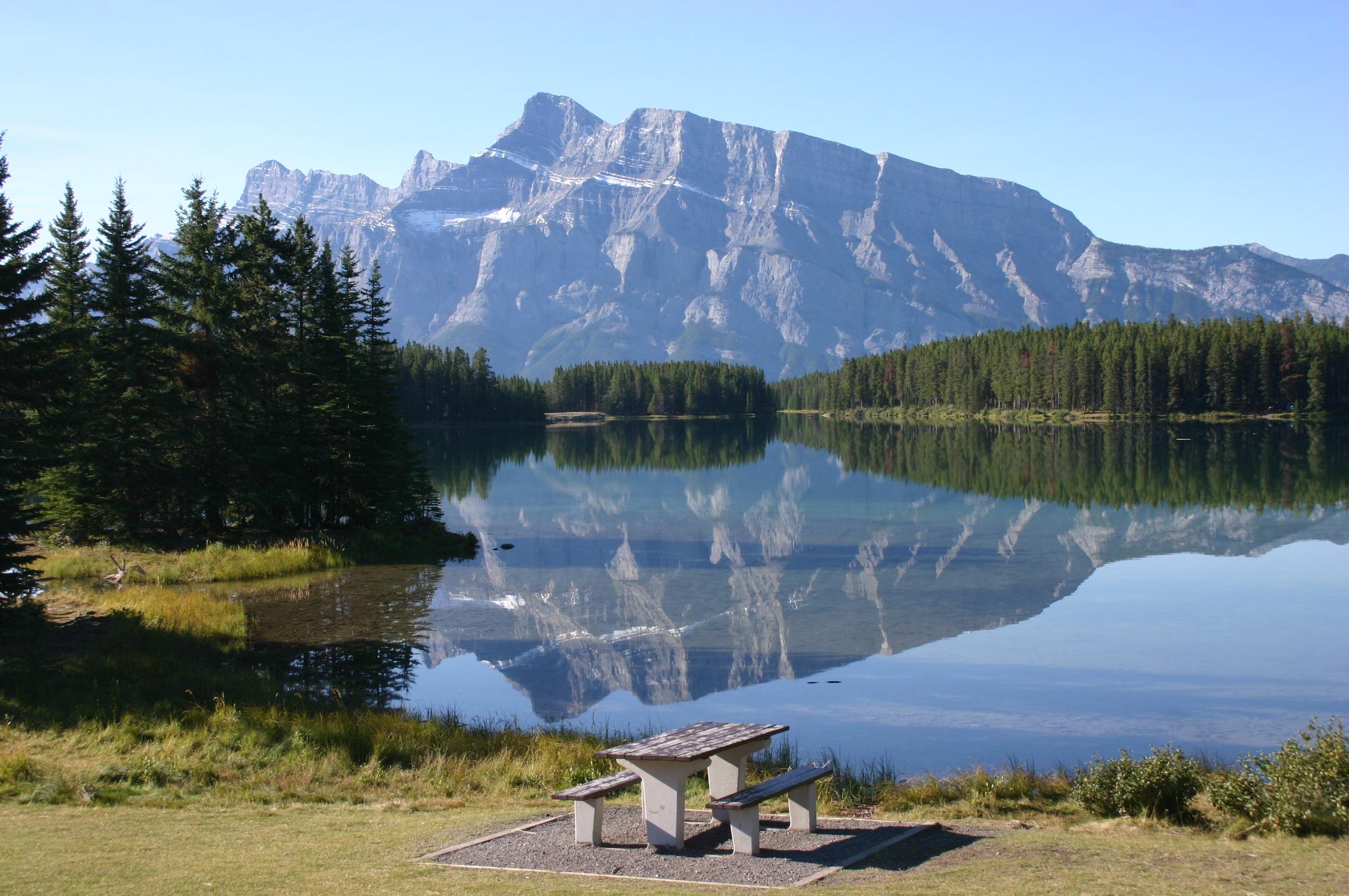 A lake reflection