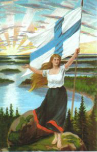 The Finnish Maiden - personification of Finnis...