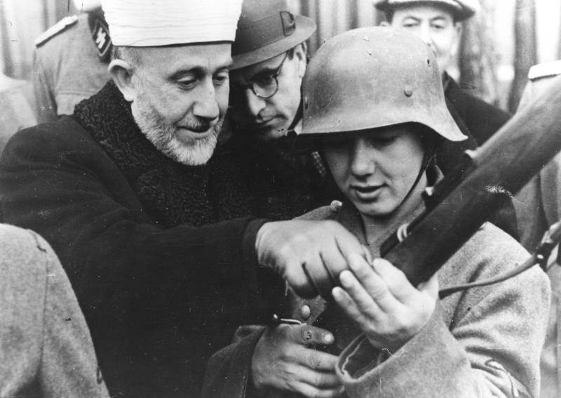 File:Bundesarchiv Bild 146-1978-070-05A, Amin al Husseini bei bosnischen SS-Freiwilligen.jpg
