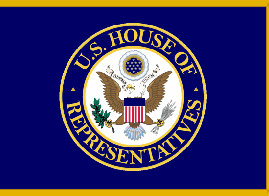 United States House of Congress Representatives Flag - Image Copyright WikiMedia.Org