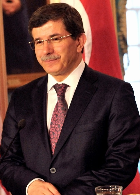 Cropped version photo of Ahmet Davutoglu, June...