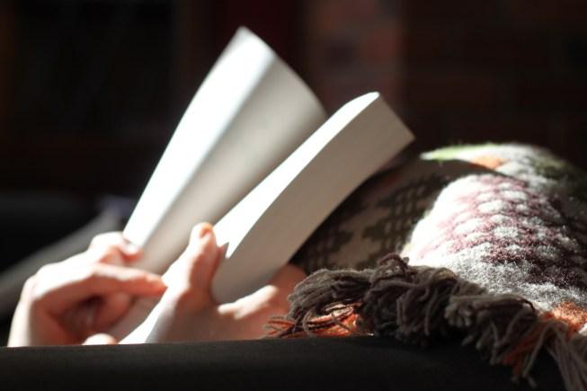 book being read near window
