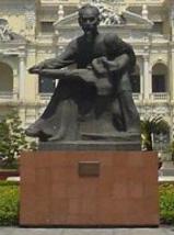 Hồ Chí Minh statue outside Saigon City Hall, H...