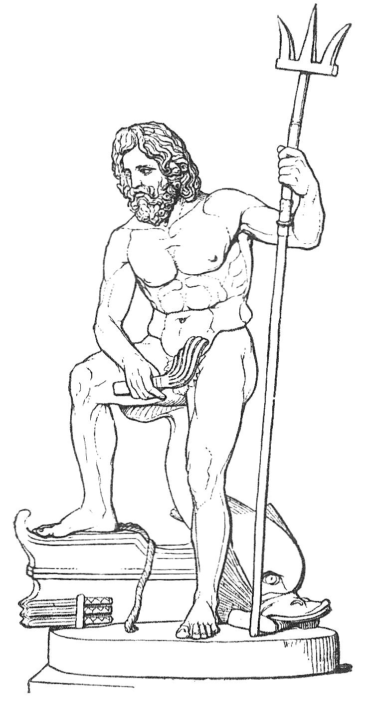 Griech. Meeresgott Sohn Poseidons