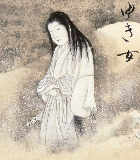 Yuki Onna, the snow woman, is one of the evil spirits in Japanese culture