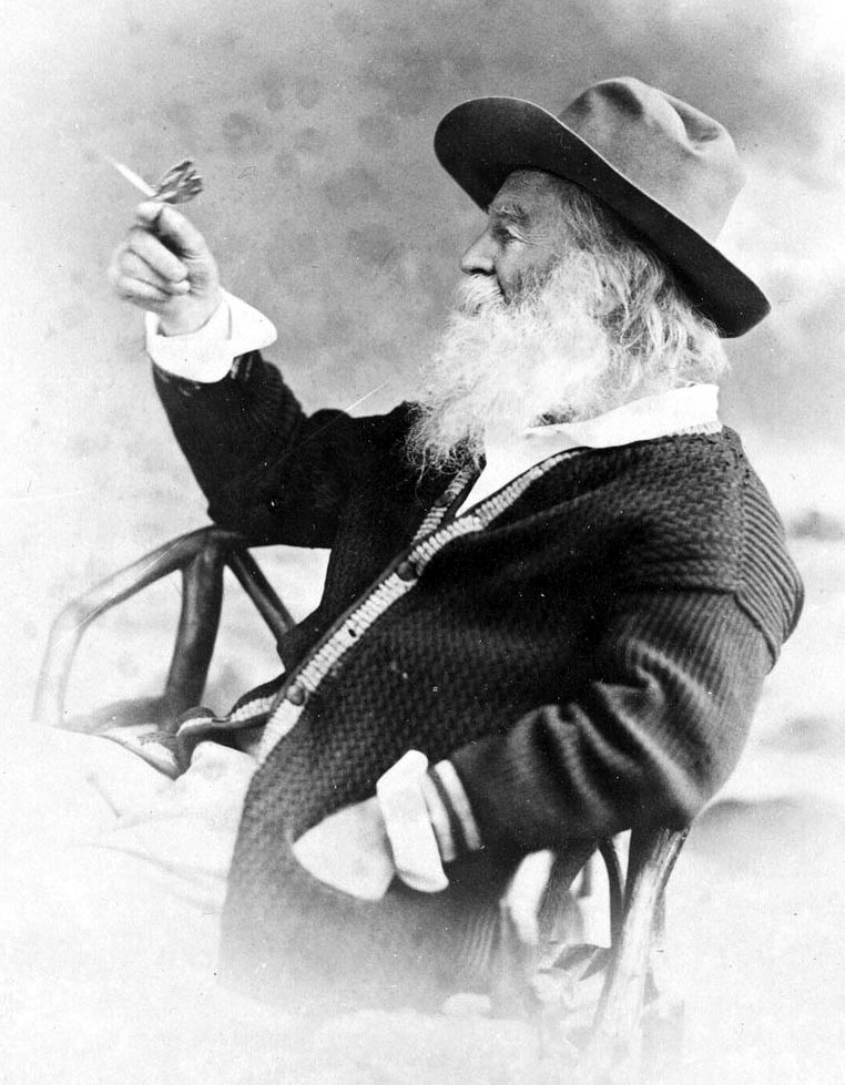 English: Photo of American poet Walt Whitman h...