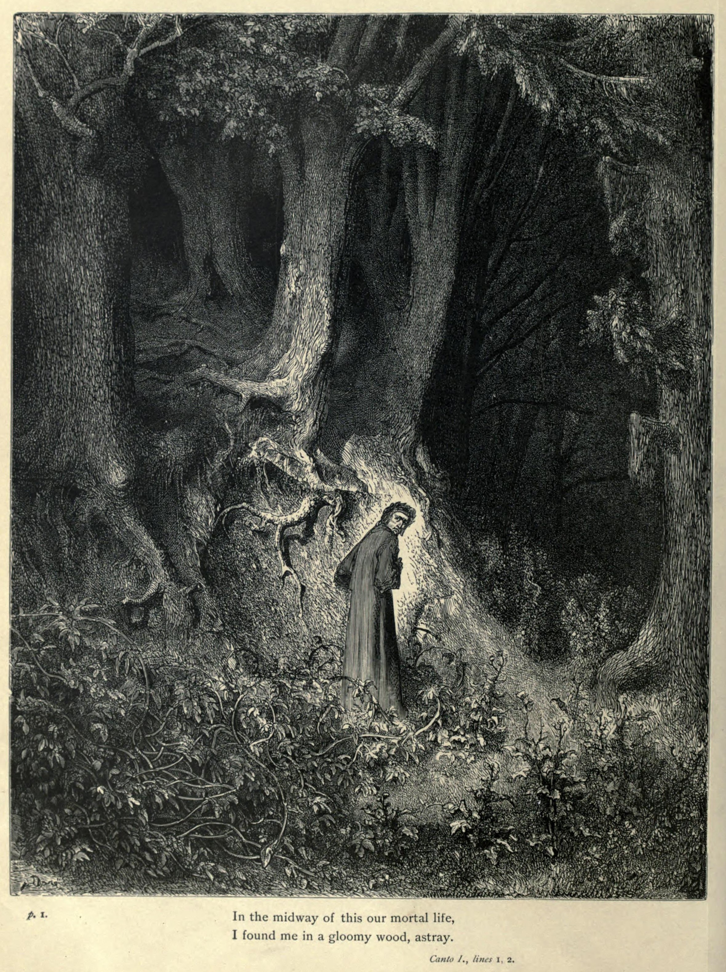 Inferno, Canto 1, by Gustave Dore
