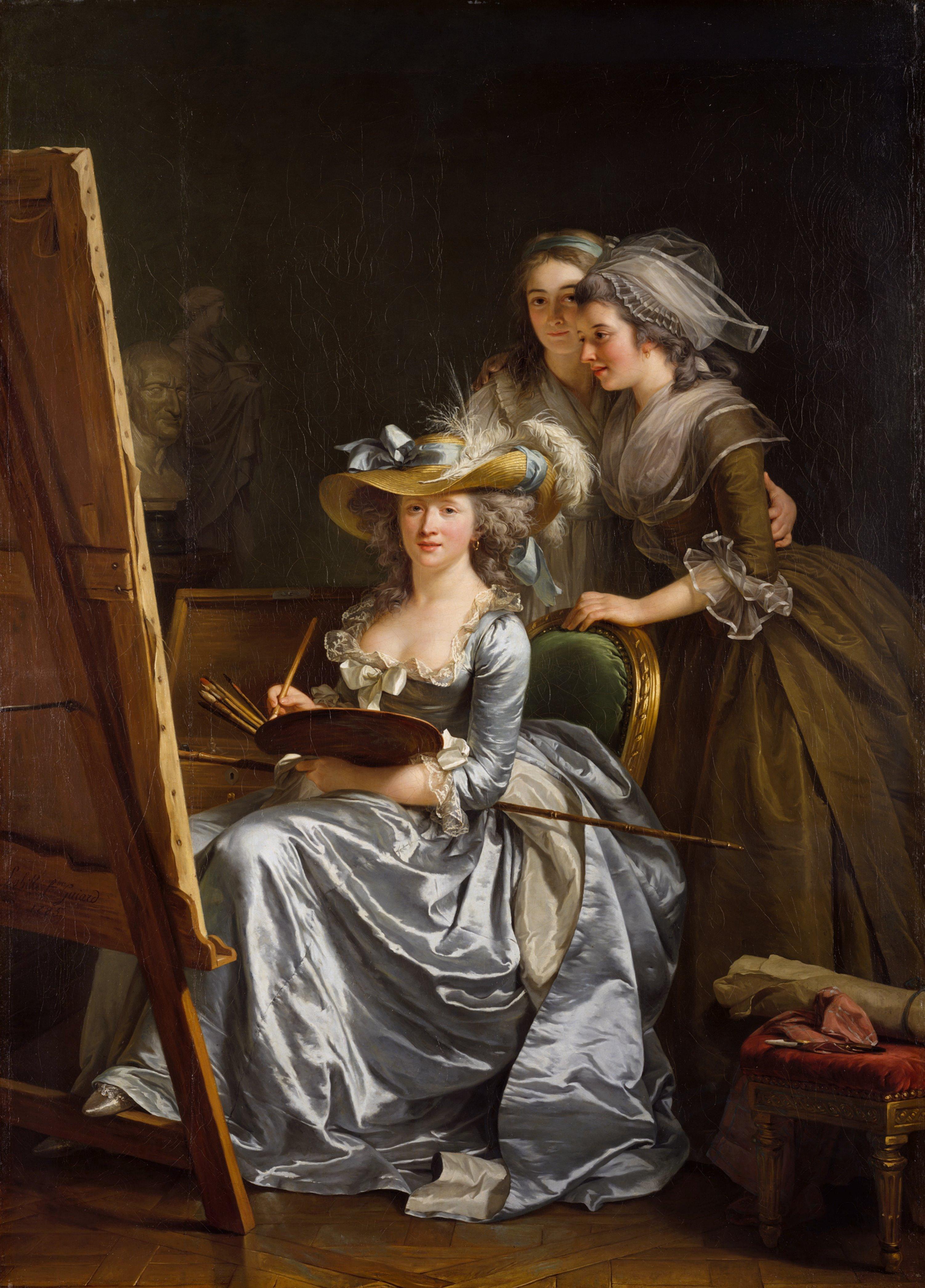 Adelaïde Labille-Guiard, Self-portrait with two pupils