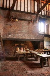 medieval fireplace kitchen fireplaces hall hearth interior houses castle gainsborough fire geograph enormous modern open log interiors england room history