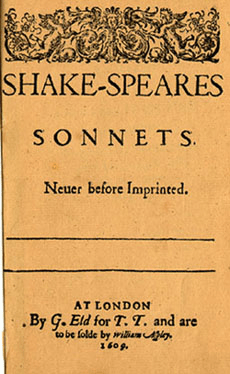 Title page of Shake-Speares Sonnets''