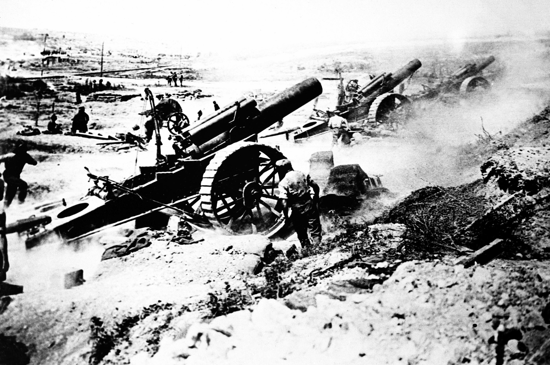 File British Artillery In Action World War I